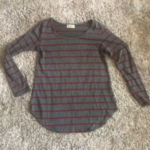 Long sleeve red striped top